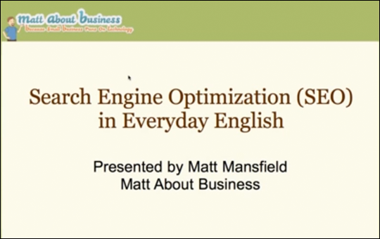 Search Engine Optimization (SEO) in Everyday English