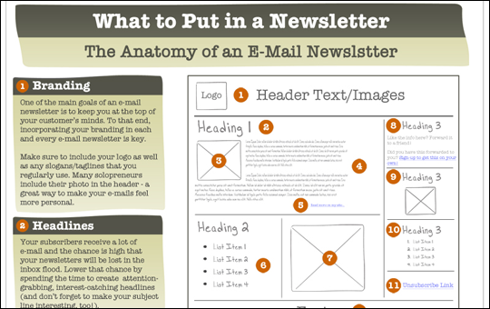 Anatomy of an E-Mail Newsletter
