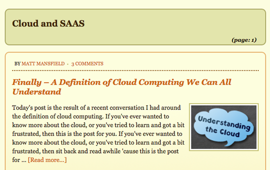Cloud and SAAS