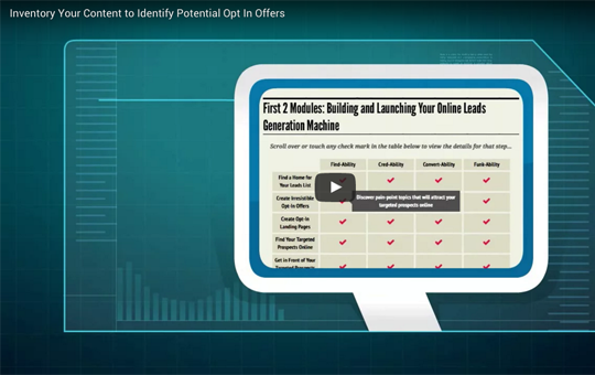 Inventory Your Content to Identify Potential Opt In Offers
