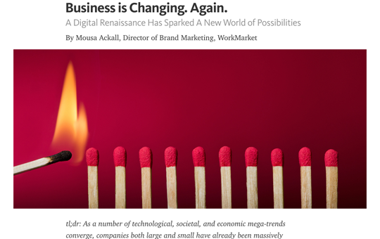 Business is Changing. Again.